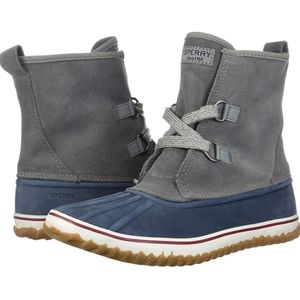 Sperry Top Sider Schooner Slouch Tie Boots 5.5